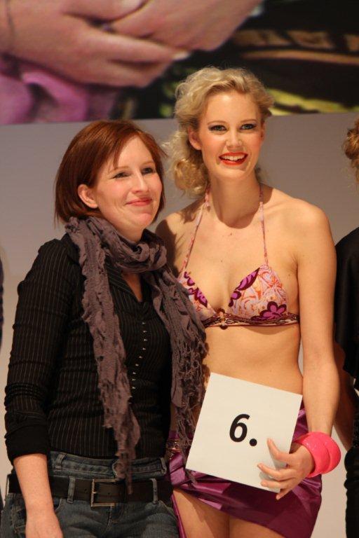 Nina Schaub und ihr Model