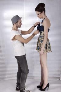 Luis Bonfiglio mit Model Katrin Burri