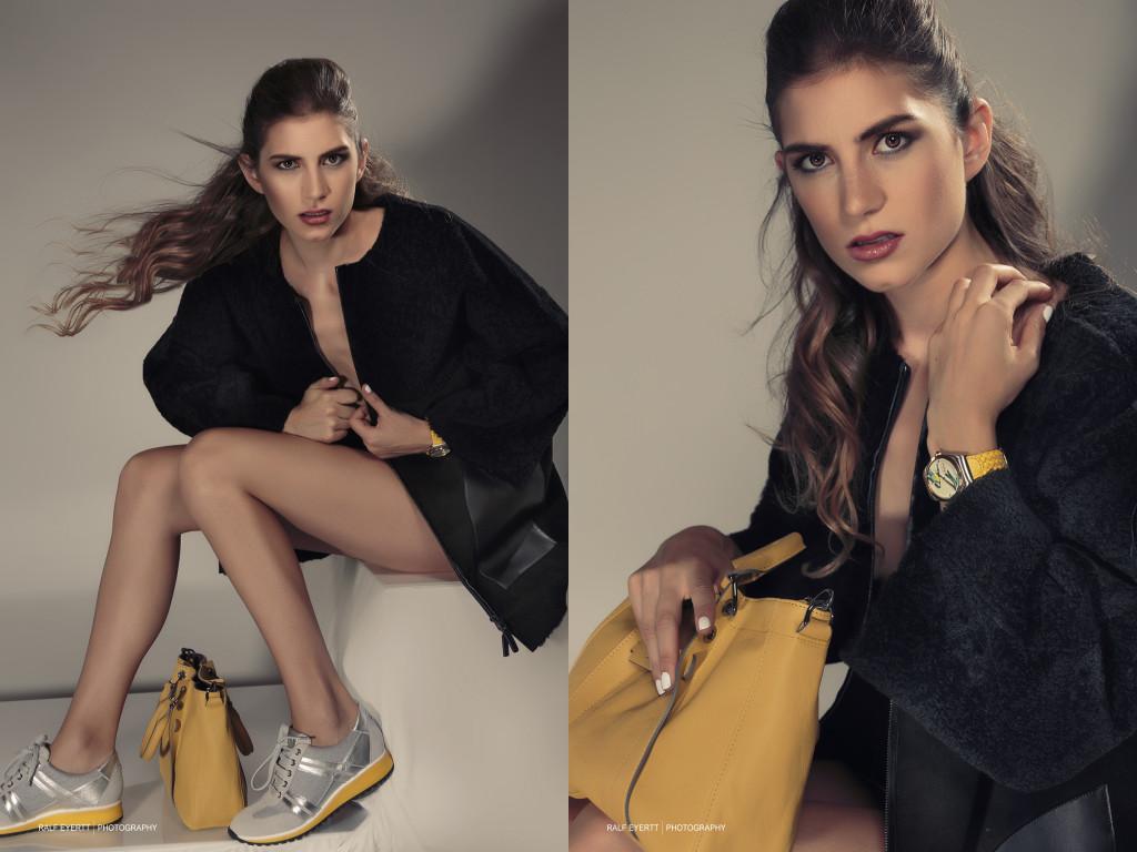 Longchamp FW 2015 Mäntel, das Thema der Herbst/Winter Saison. Vor allem im Materialmix wie hier sind sie das It Piece, das jede Fashionista im Schrank haben sollte. Uhr Casual Luxury Landolf & Huber Model Linda Solanki