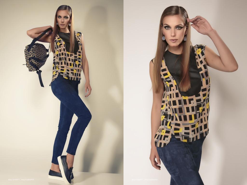 Longchamp FW 2015 Ein casual chic look für jeden Tag. Ohrringe Casual Luxury Landolf & Huber Model Uli Teb