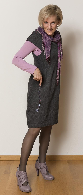 Kleid Nile, Shirt Street One, Schuhe Tamaris