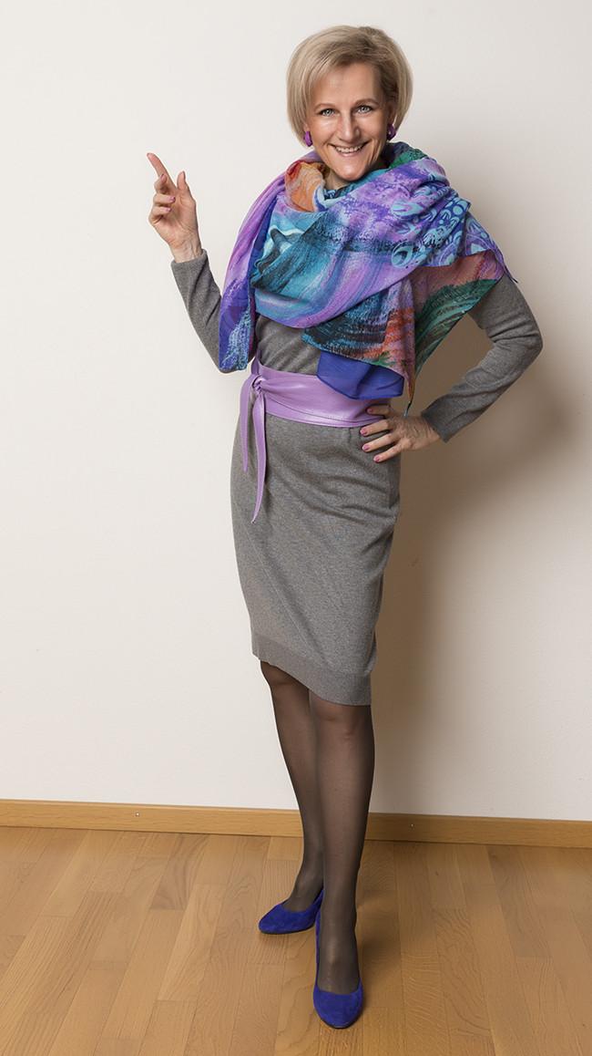 Kleid InWear, Schal Desigual, Schuhe Minelli