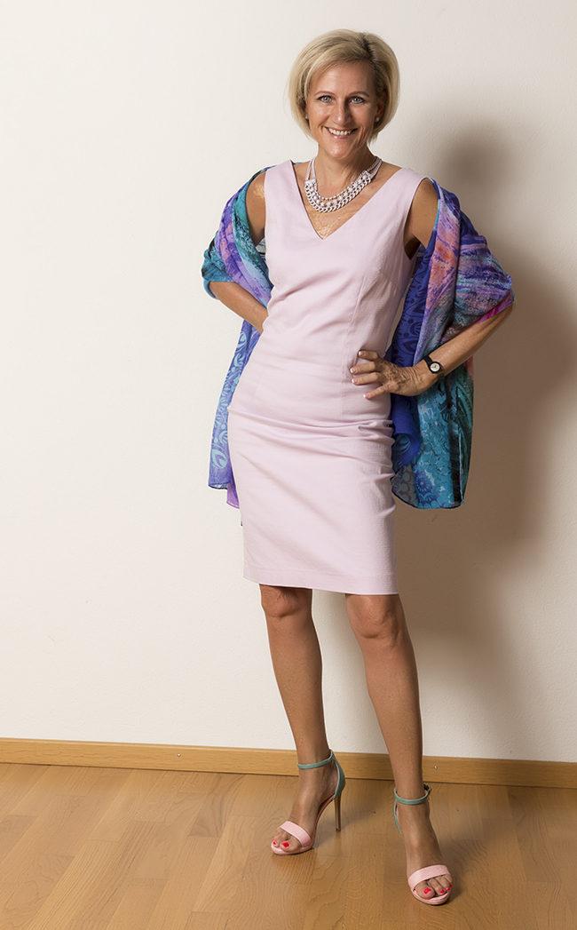 Kleid Trussardi, Schuhe Gaudi shoes