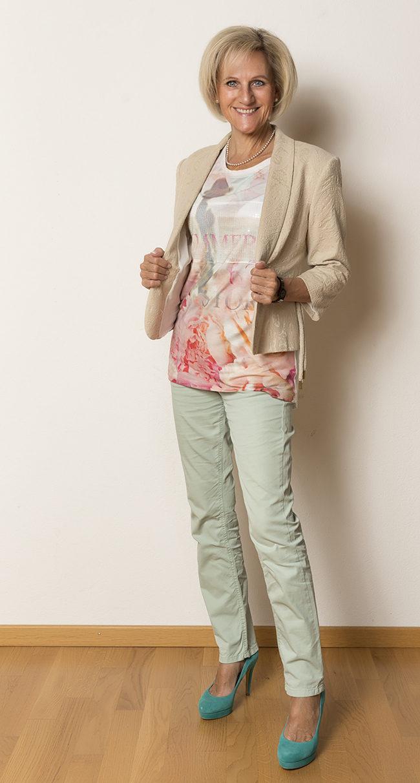 Jäckchen B&B Collection, Shirt Bianca, Hose Gardeur, Schuhe Bata
