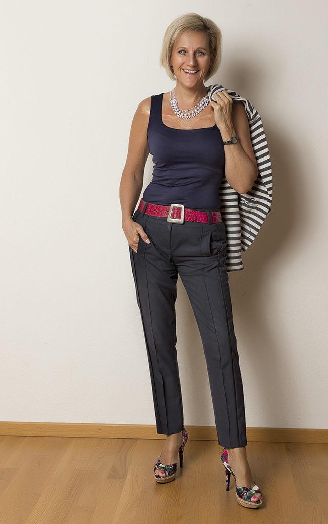 Blazer Desigual, Hose B&B Collection, Shirt Zara, Schuhe Graceland