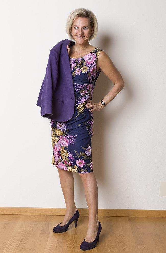Kleid + Jacke Phase Eight, Schuhe Graceland