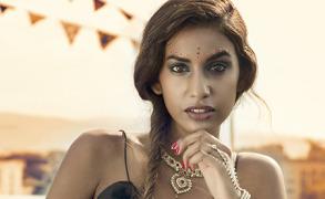 Portrait eines Indisch – Schweizer Models