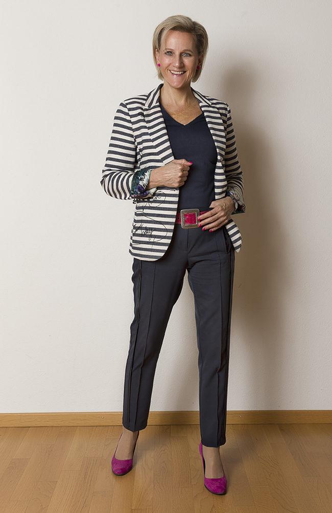 Jacket Desigual, Hose B&B Collection, Shirt Street One, Schuhe Guilty