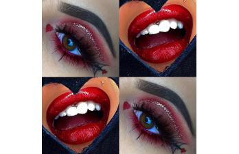 Vanessa Cisullo – Valentine Augen und Lippen Makeup